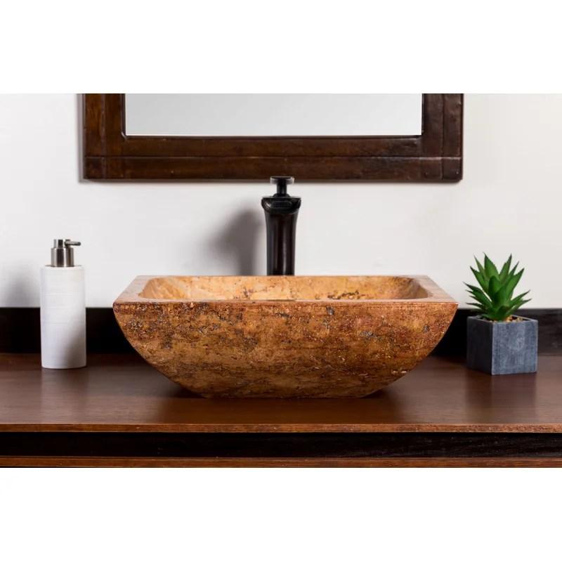 adana stone rectangular vessel sink faucet bathroom sink
