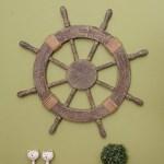 Beachcrest Home Ornamental Nautical Ship Steering Wheel Home Wall Decor Reviews Wayfair