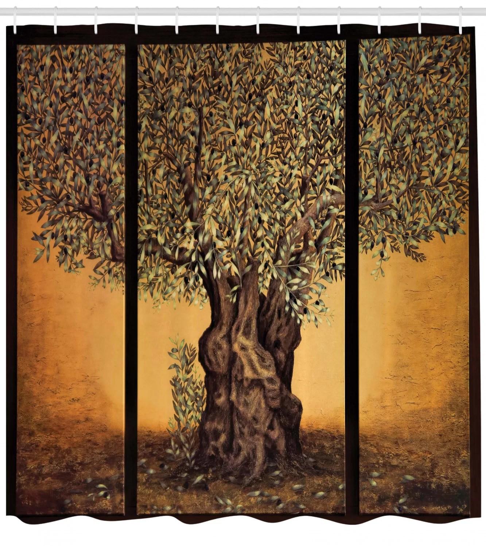 tree of life shower curtain set hooks
