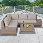 Sol 72 Outdoor Alta 5 Seater Rattan Corner Sofa Set Reviews Wayfair Co Uk