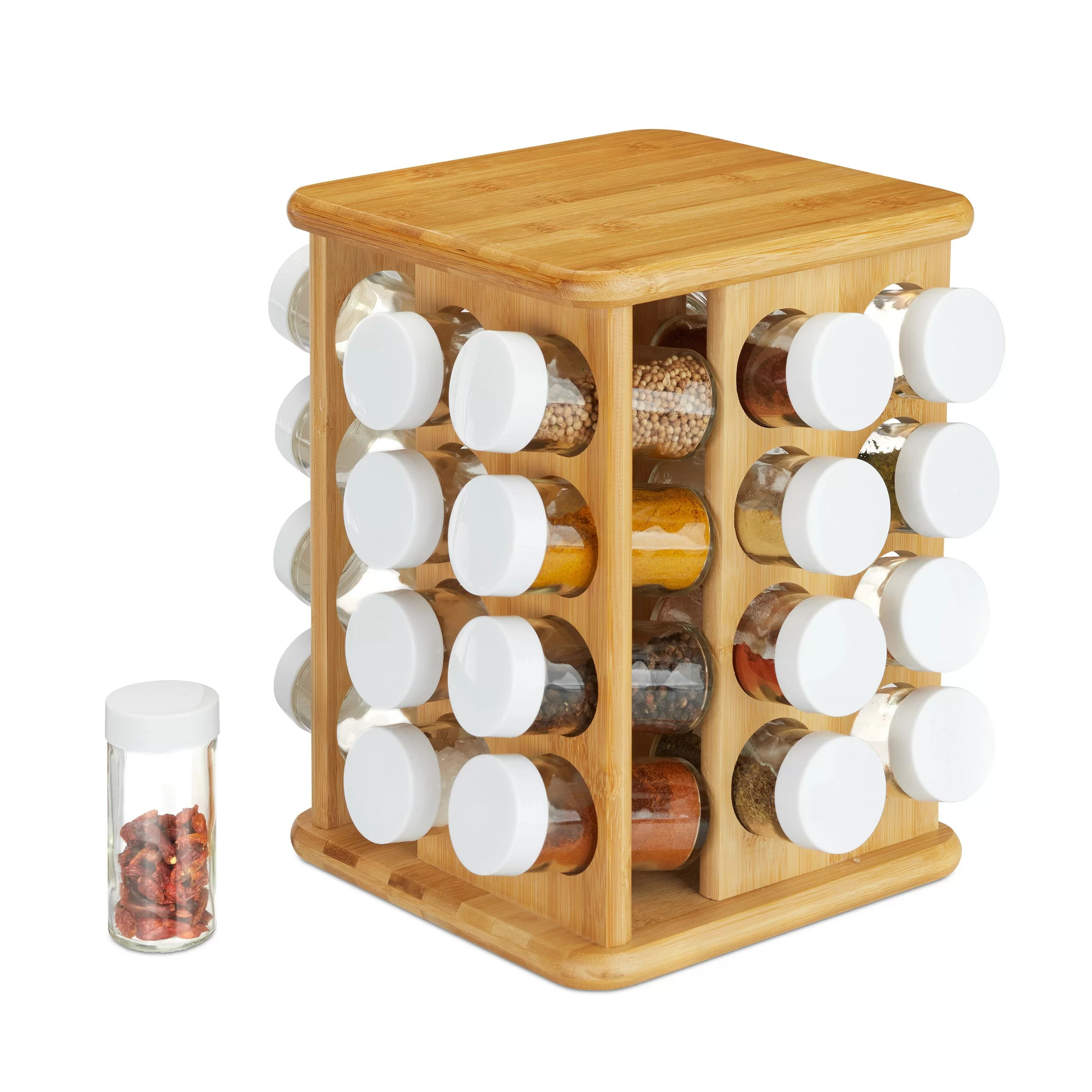 32 jar free standing spice rack