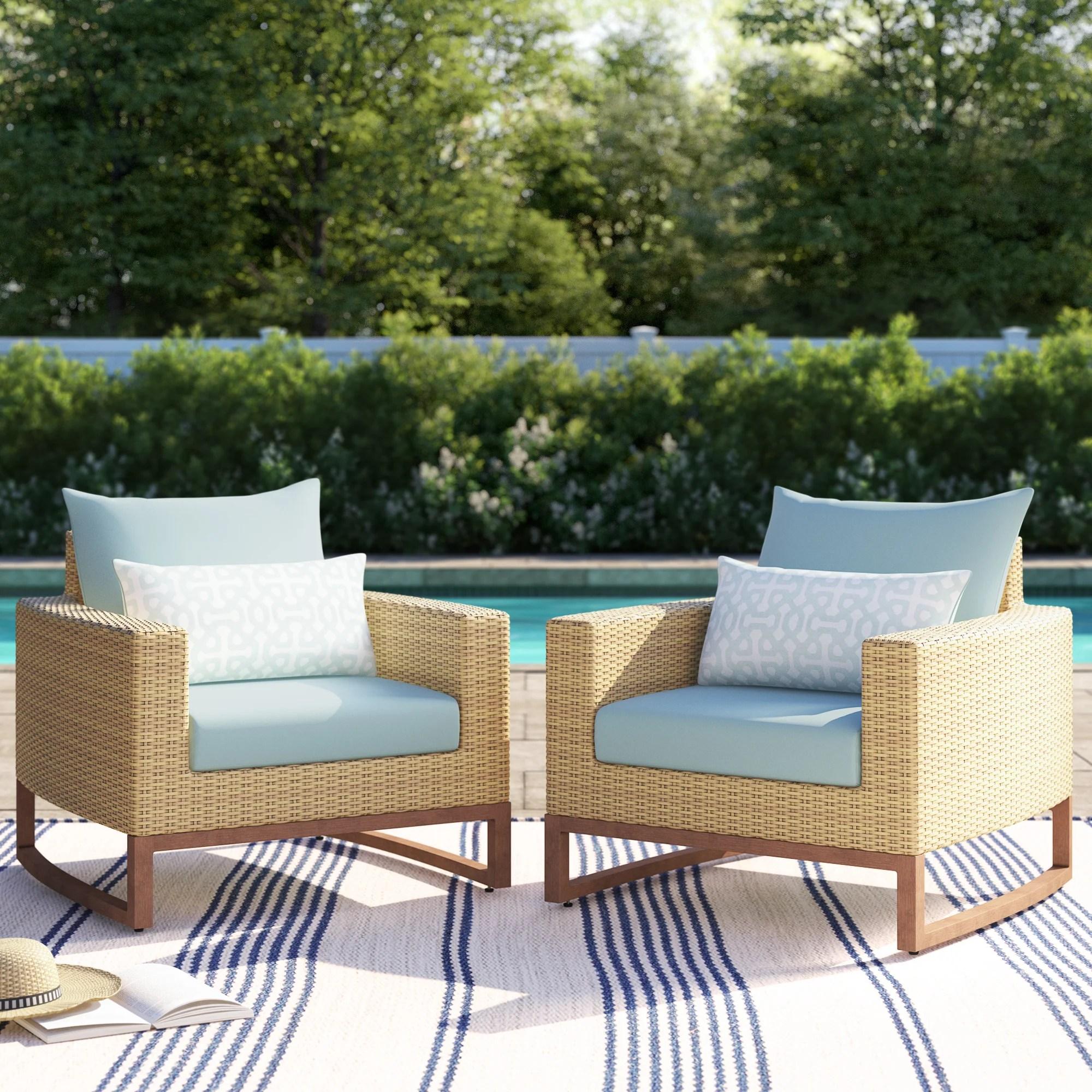 mcdougal patio chair with sunbrella cushions