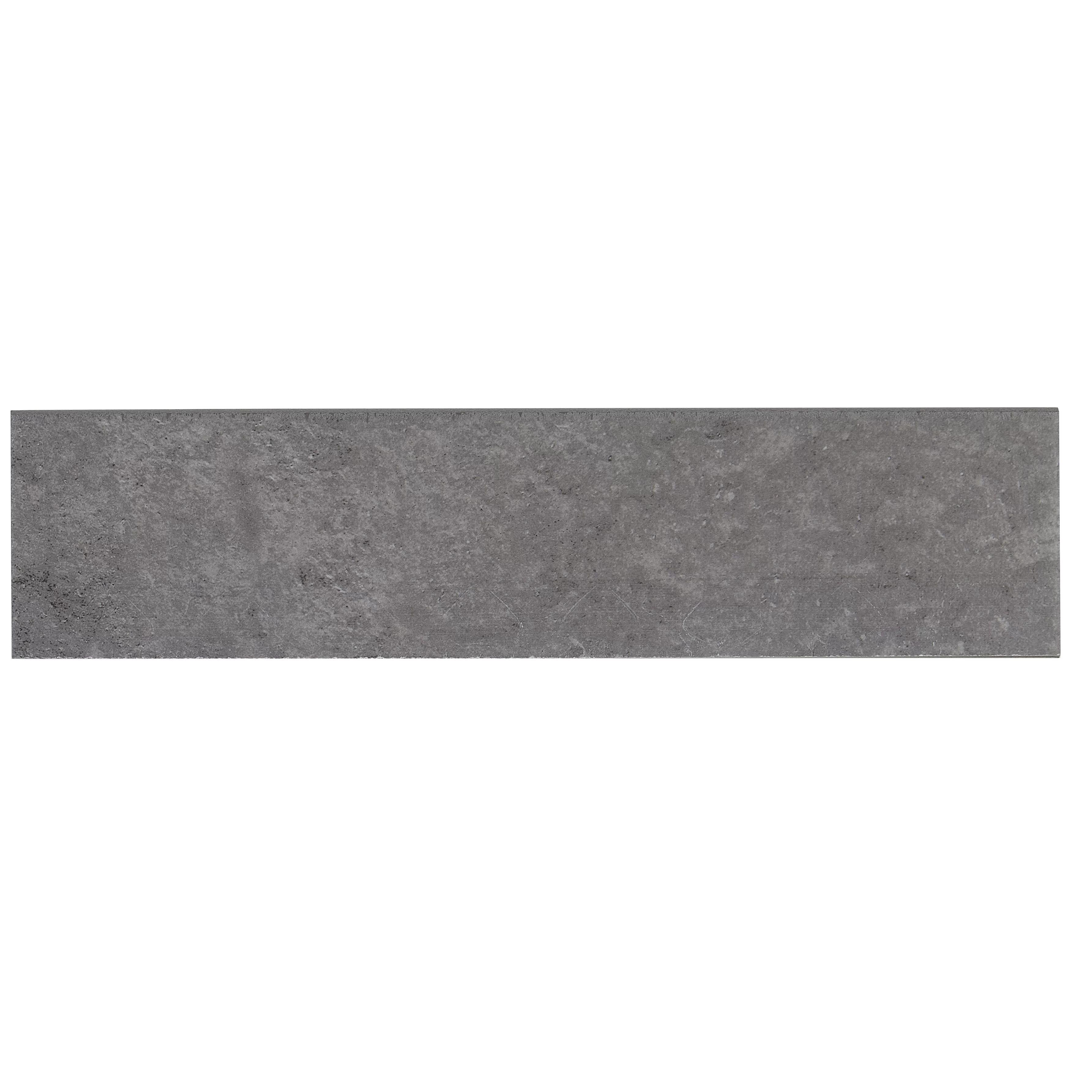 slate attache 12 x 3 porcelain bullnose tile trim in meta dark gray