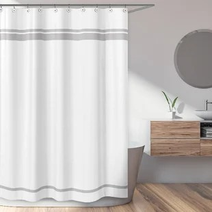 rustic gray silver shower curtains