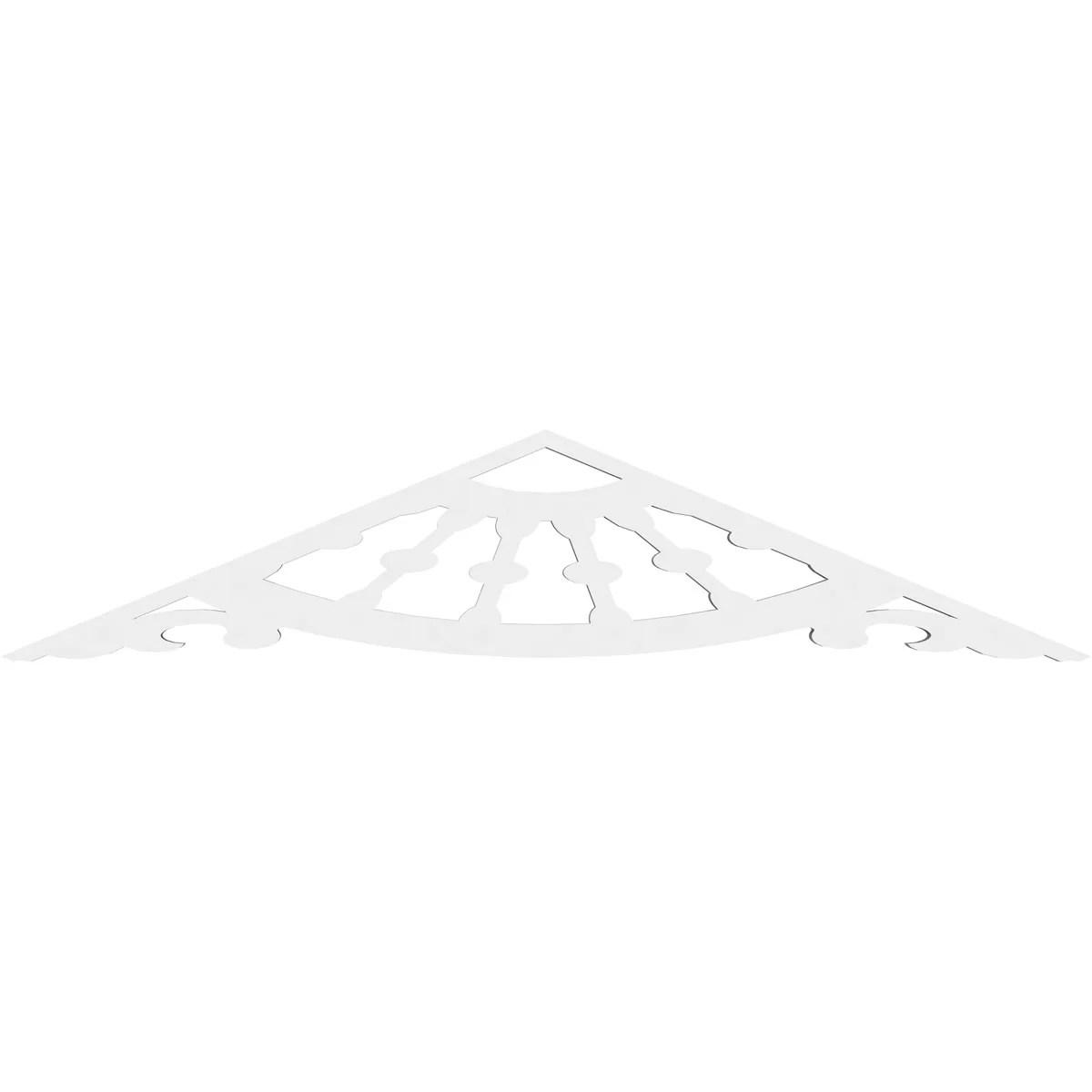 Ekena Millwork Wagon Wheel Architectural Grade Pvc Gable