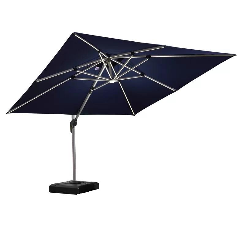 rectangular lighted umbrella