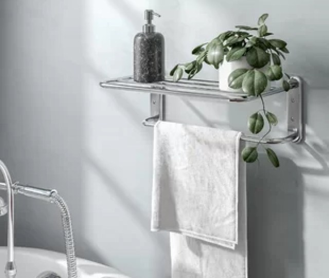 Cavazos Wall Mounted Towel Rack