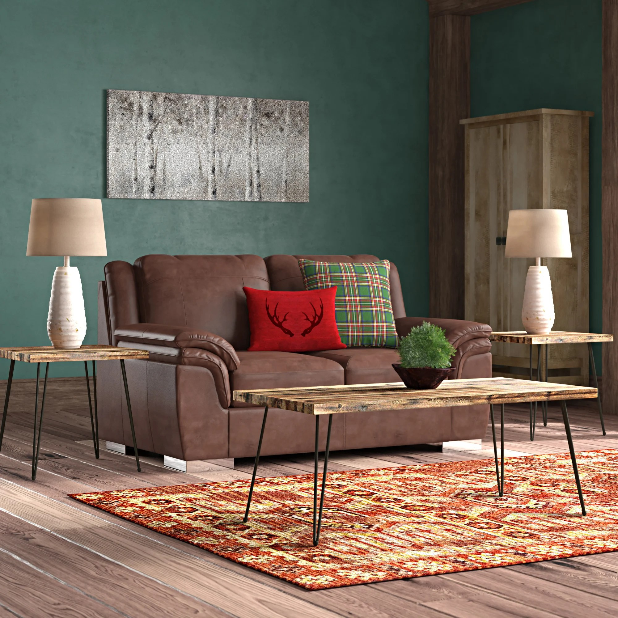 brown coffee table sets you ll love in