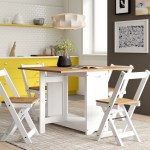 Zipcode Design Leoma Folding Dining Set With 4 Chairs Reviews