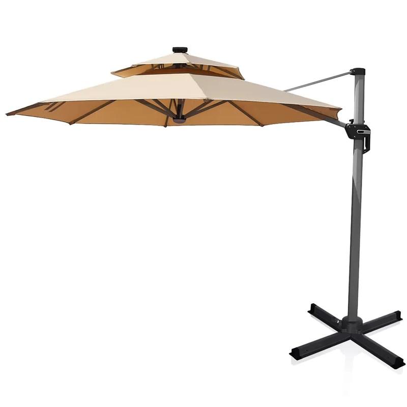 rudd 144 lighted cantilever umbrella