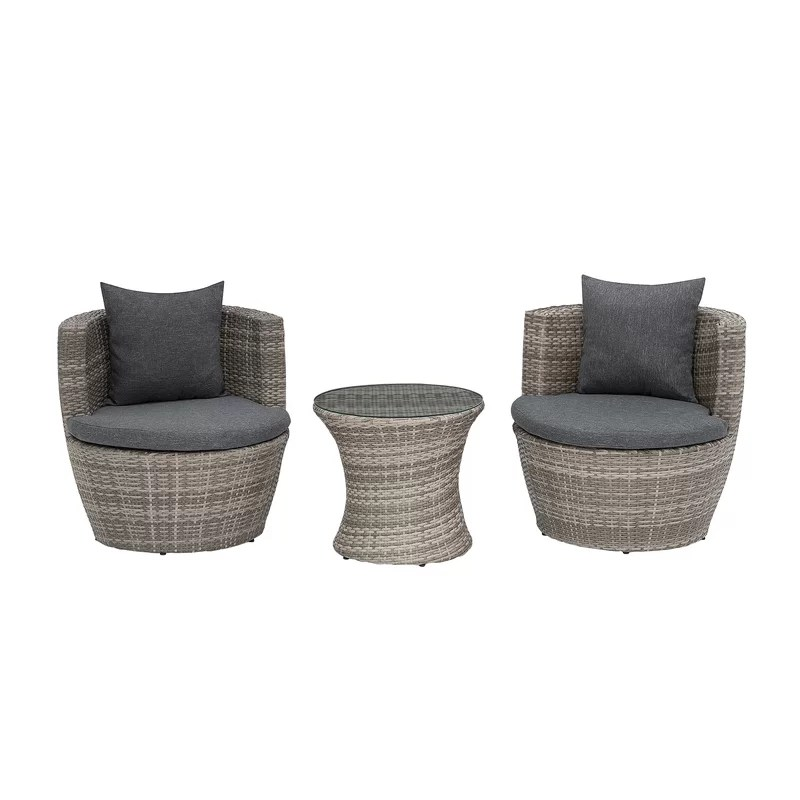 stange 2 seater bistro set with cushions