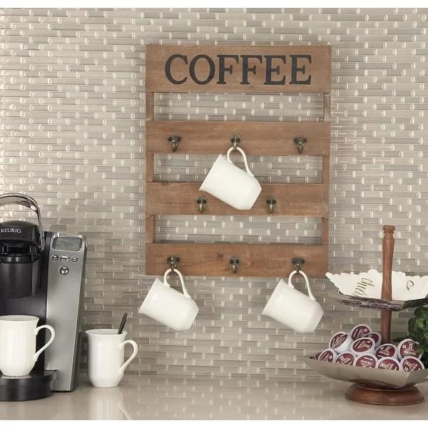 wall coffee mug hanger rack