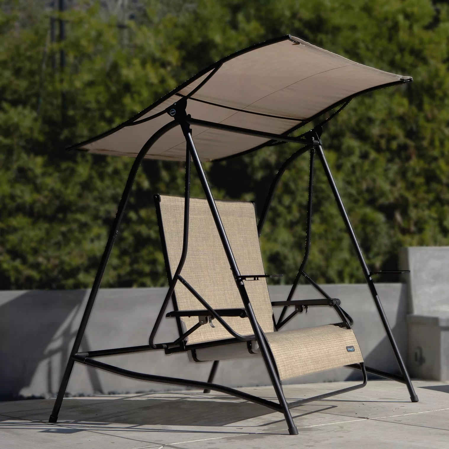 parsons reclining porch swing with stand