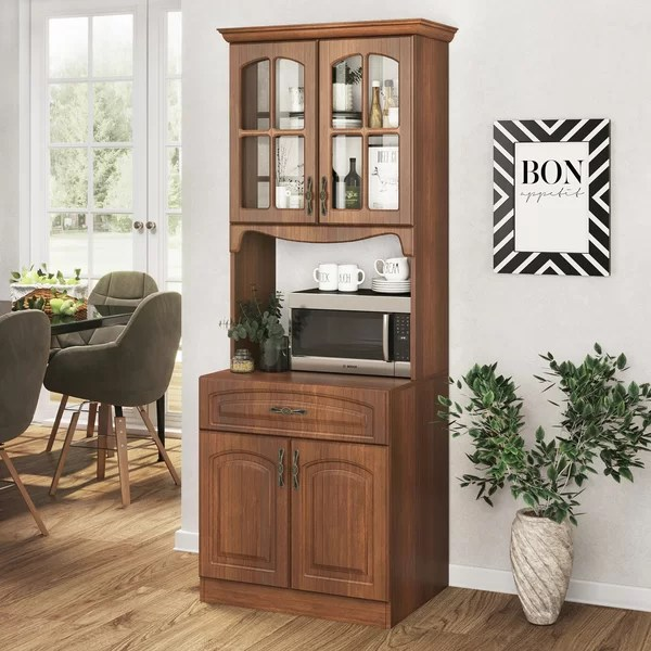 solid wood microwave cabinet