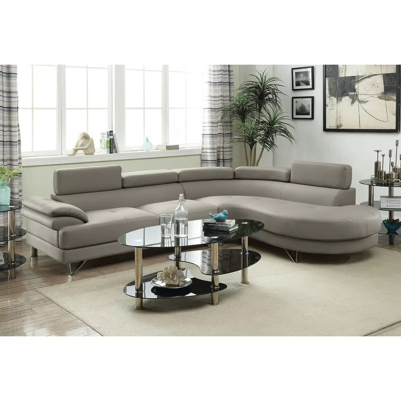 Grey Leather Sectional With Recliners