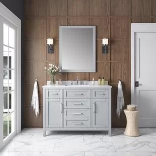 dantavious 48 single bathroom vanity set with mirror
