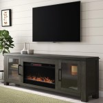 Gracie Oaks Cloyne Tv Stand For Tvs Up To 88 With Electric Fireplace Included Reviews Wayfair