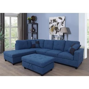 russ 103 5 wide sectional with ottoman