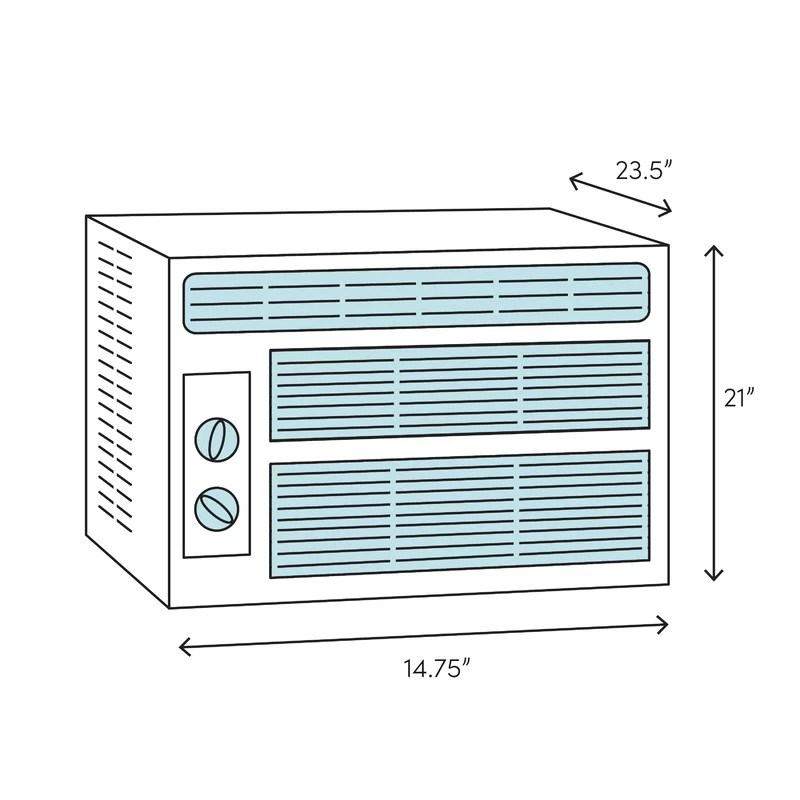 Perfectaire 10 000 Btu Window Air Conditioner With Remote Reviews Wayfair
