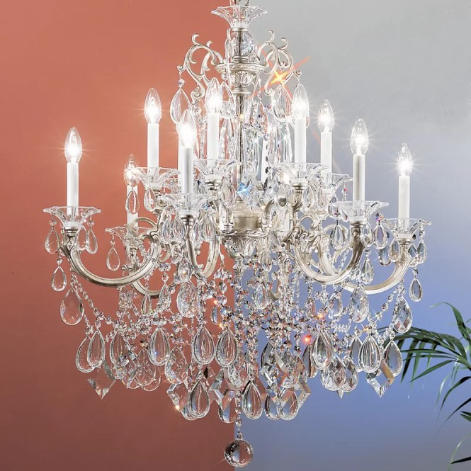 Via Venteo 12 Light Crystal Chandelier