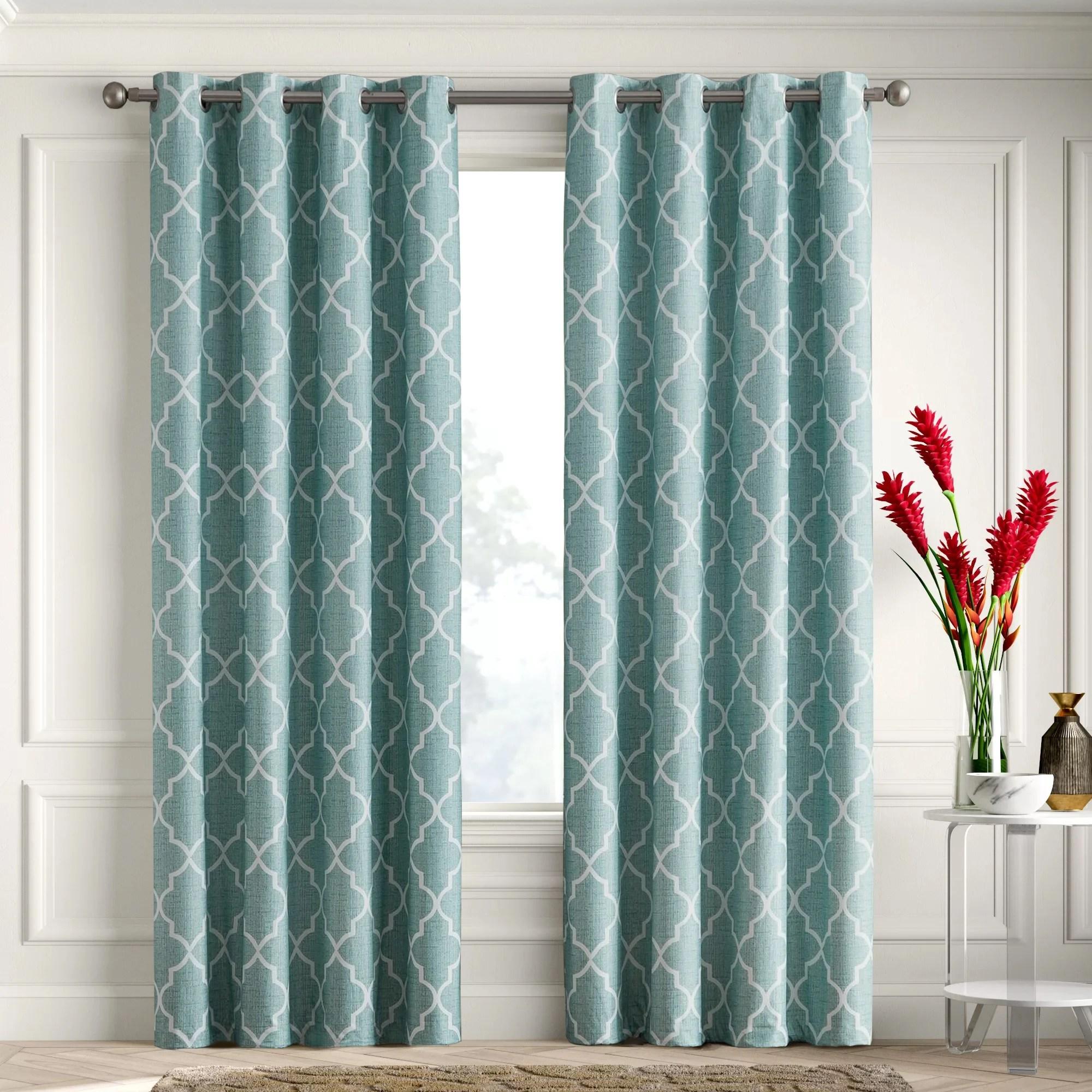 puma geometric blackout thermal grommet curtain panels