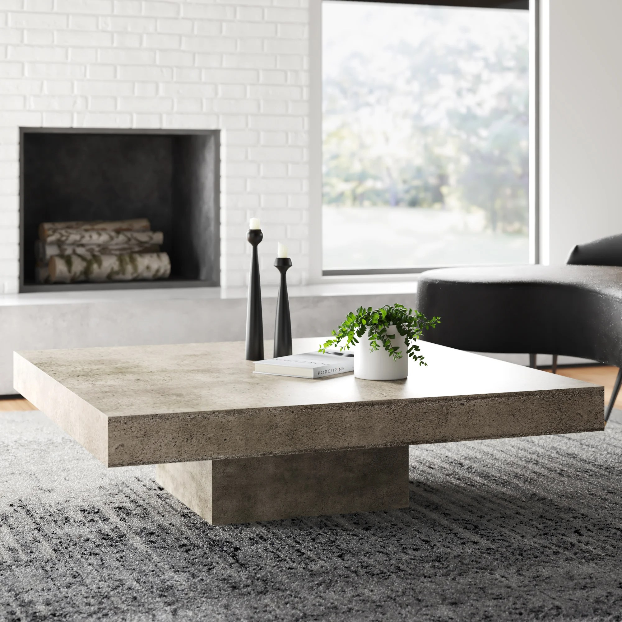 modern low under 14 in coffee tables