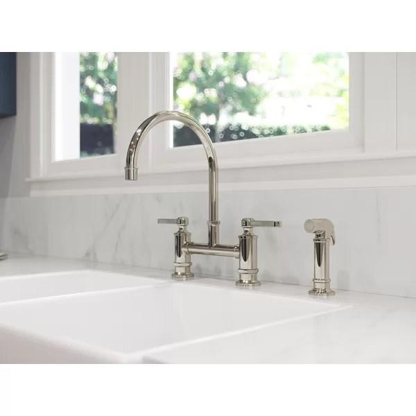 bathroom bridge faucet