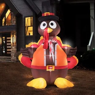 Turkey+with+Hat+Blow+up+Outdoor+Lawn+Yard+Lighted+Display
