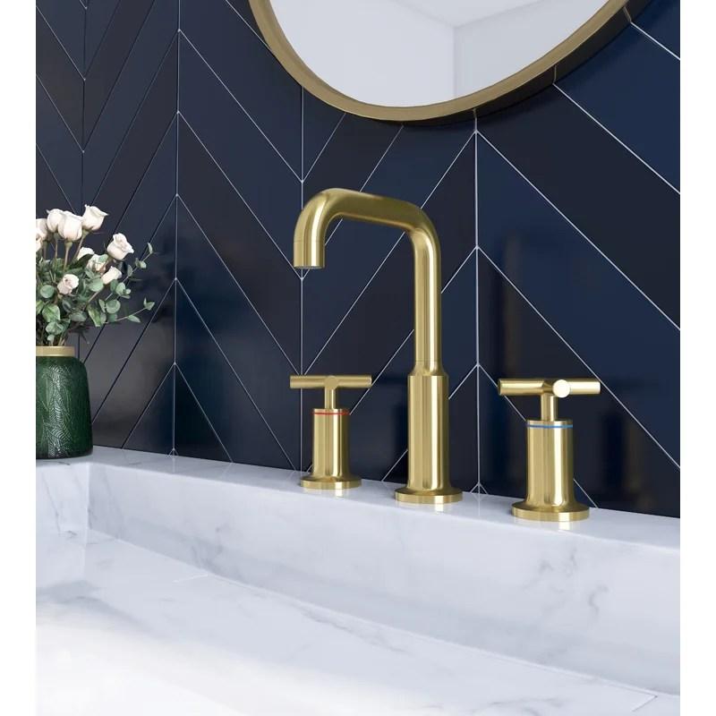 widespread bathroom sink faucet 2 handles 3 holes modern commercial bathroom sink faucet brushed brass