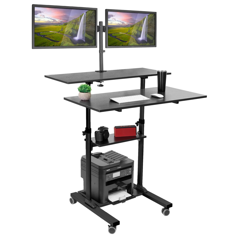Symple Stuff Hutchinson Height Adjustable Standing Desk Reviews Wayfair