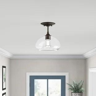 dibble 1 light 10 75 dome ambient semi flush mount