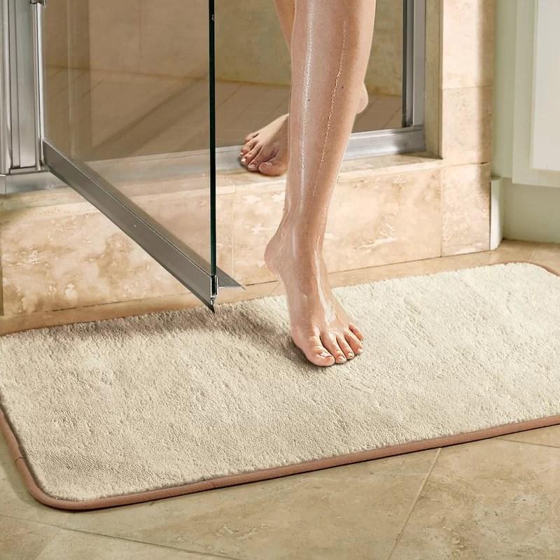 violet linen microfiber absorbing bath mat bathroom rug & reviews