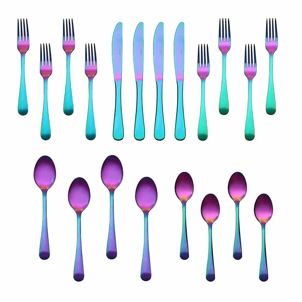 colored flatware