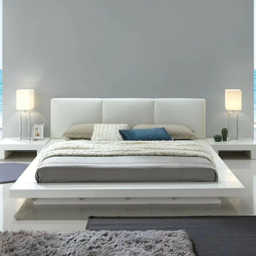 vegard low profile california king upholstered platform bed