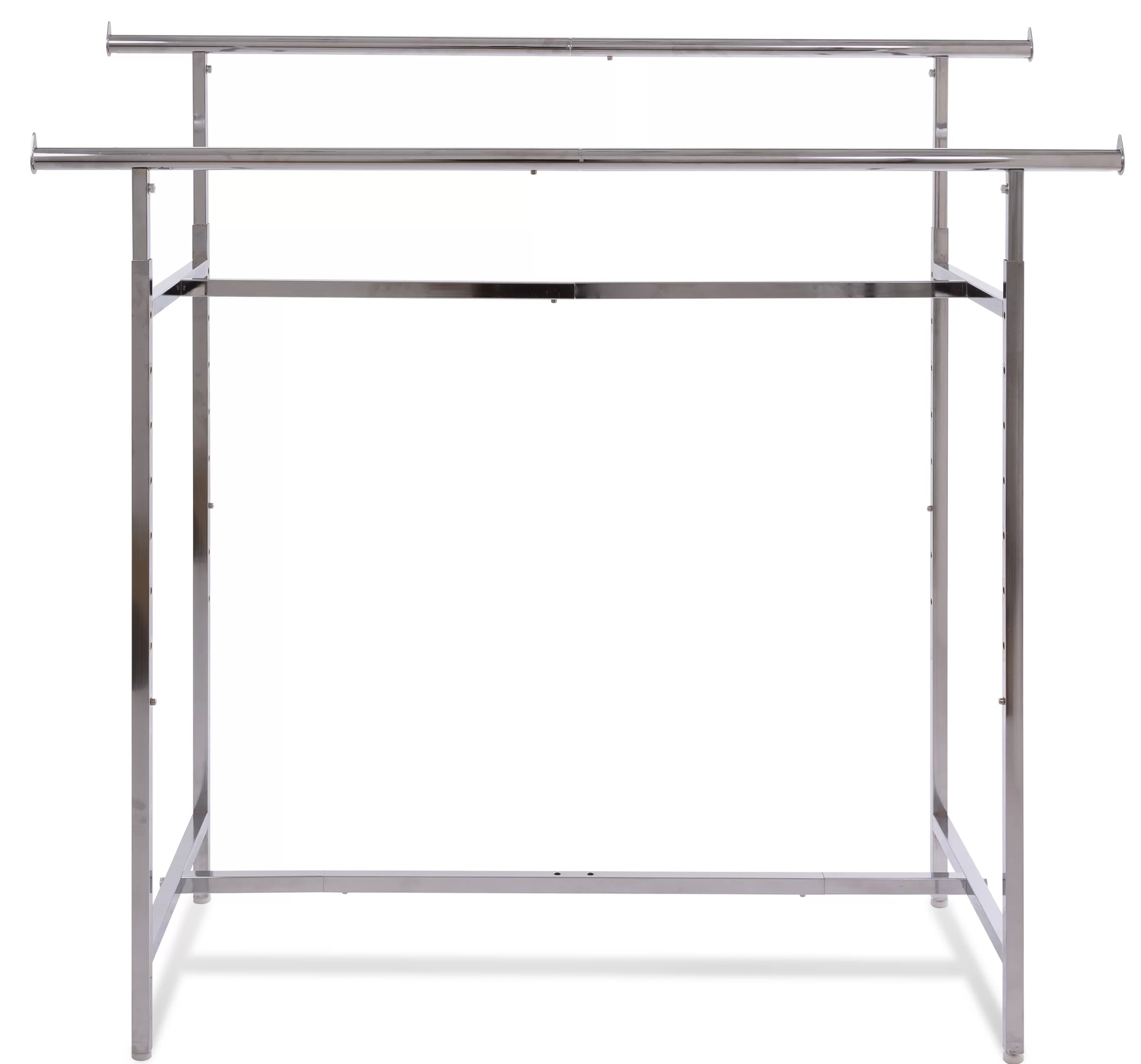 nathanial 60 w adjustable height double bar clothing rack