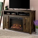 Mistana Whittier Tv Stand For Tvs Up To 50 With Electric Fireplace Included Reviews