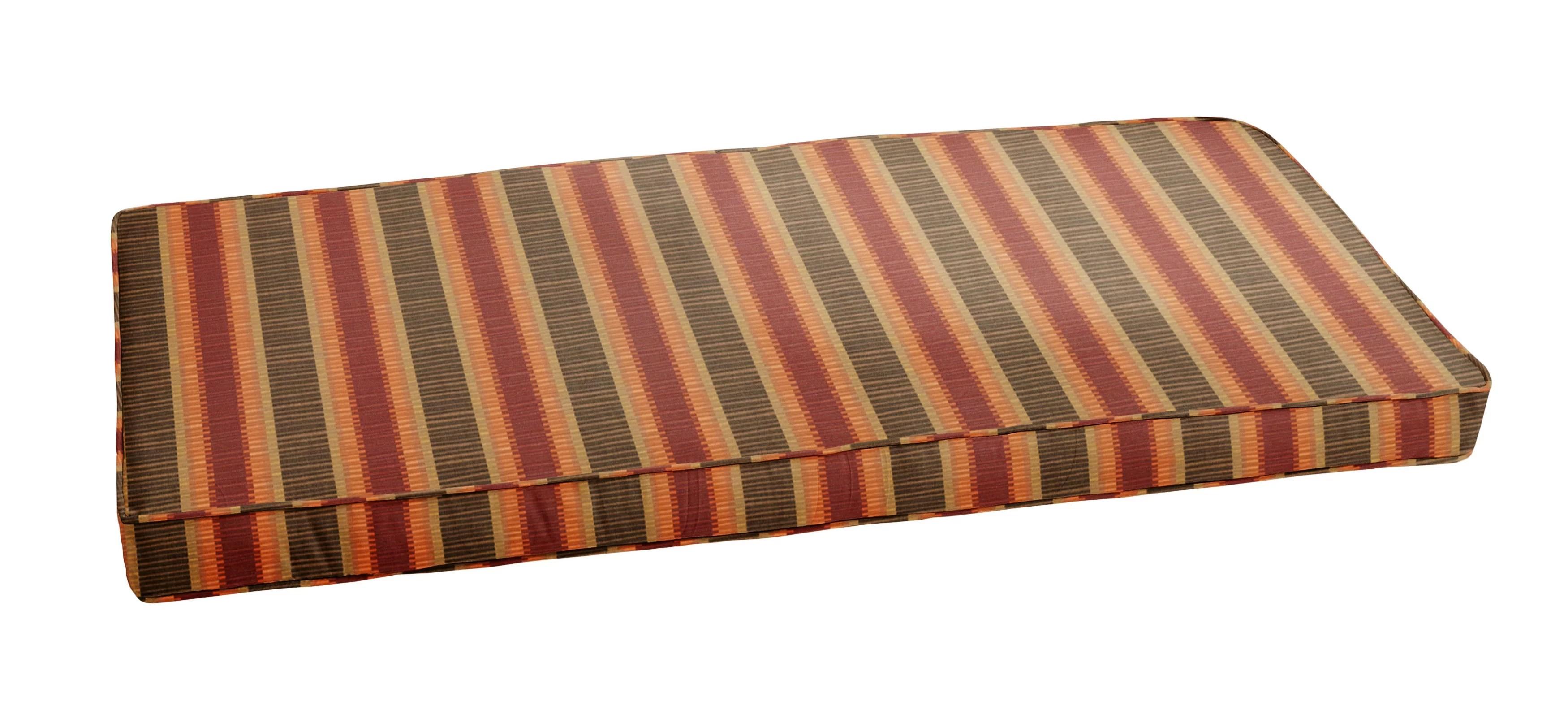 Alcott Hill Stripe Indoor Outdoor Sunbrella Bench Cushion Wayfair