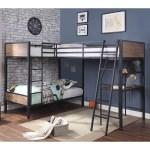 Harriet Bee Jarosz Twin Over Twin Over Twin L Shaped Triple Bunk Bed Wayfair