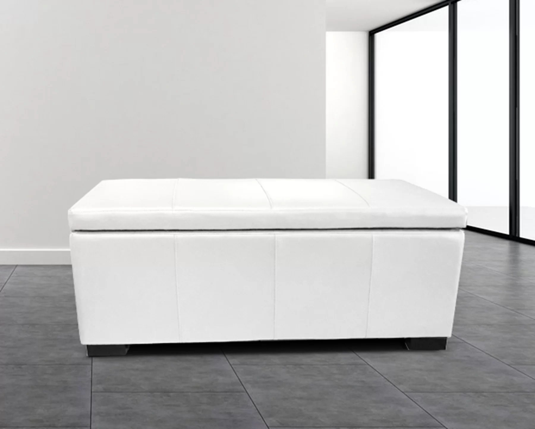 haslett upholstered storage ottoman
