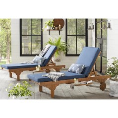Cranesville Reclining Chaise Lounge with Cushion