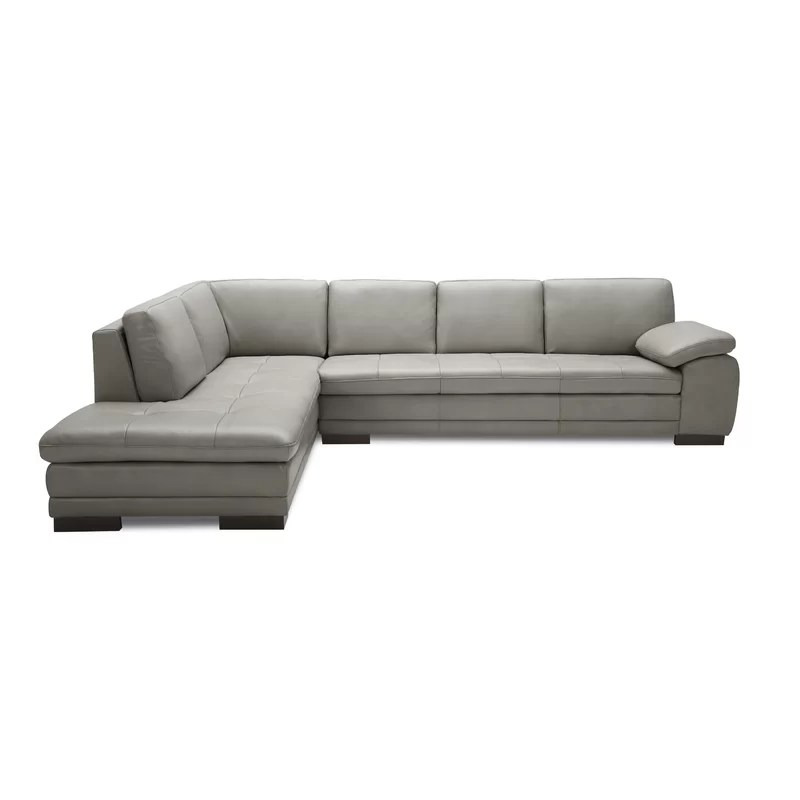 Grey Leather Sectional Couches