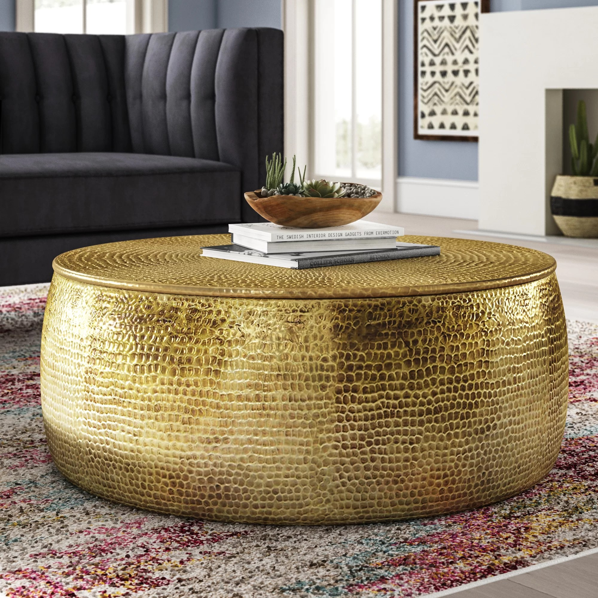 brass round coffee tables you ll love