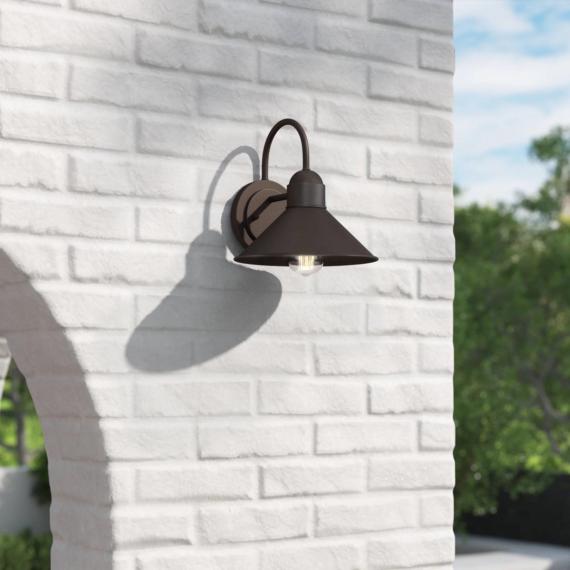 bretta oil rubbed bronze glass outdoor barn light
