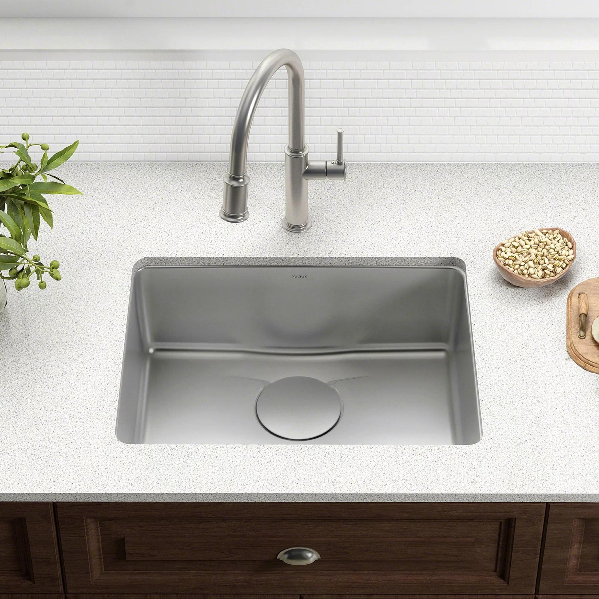dex series 25 x 19 undermount kitchen sink