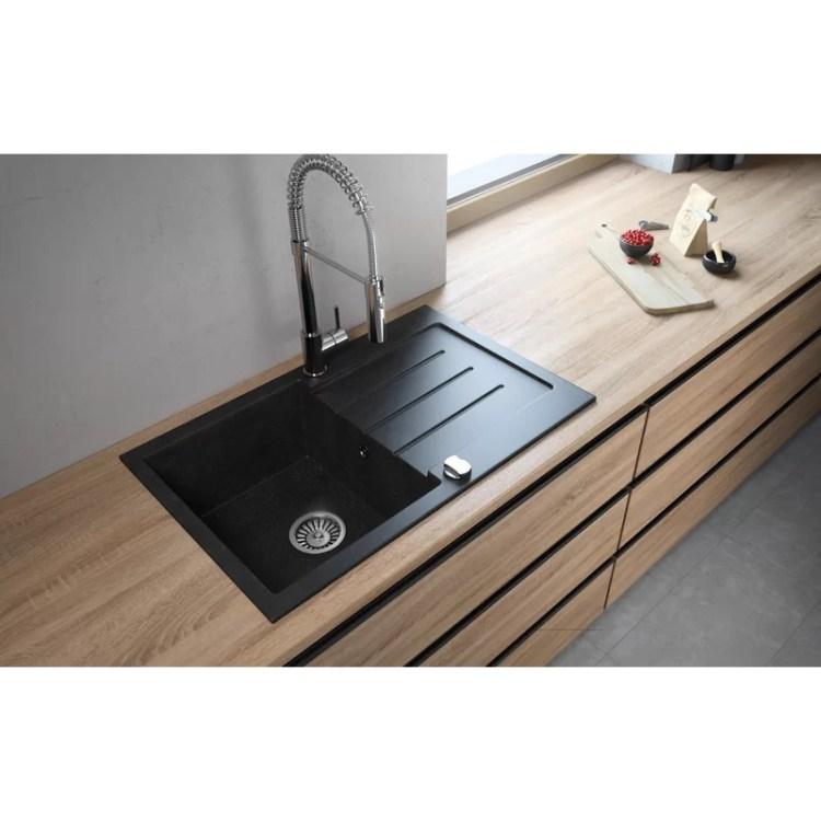 Lavello Onyx Granite Composite 31 L X 20 W Drop In Kitchen Sink Wayfair