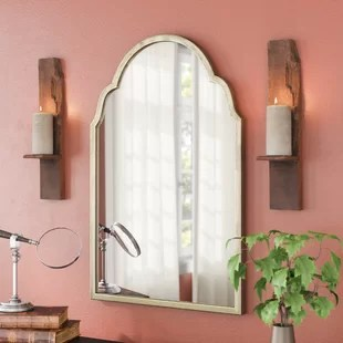 Wall Mirror Art   Wayfair Moseley Metal Wall Mirror