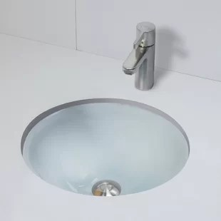 terra translucence glass circular undermount bathroom sink