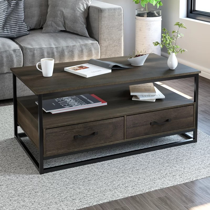 southside frame coffee table with storage