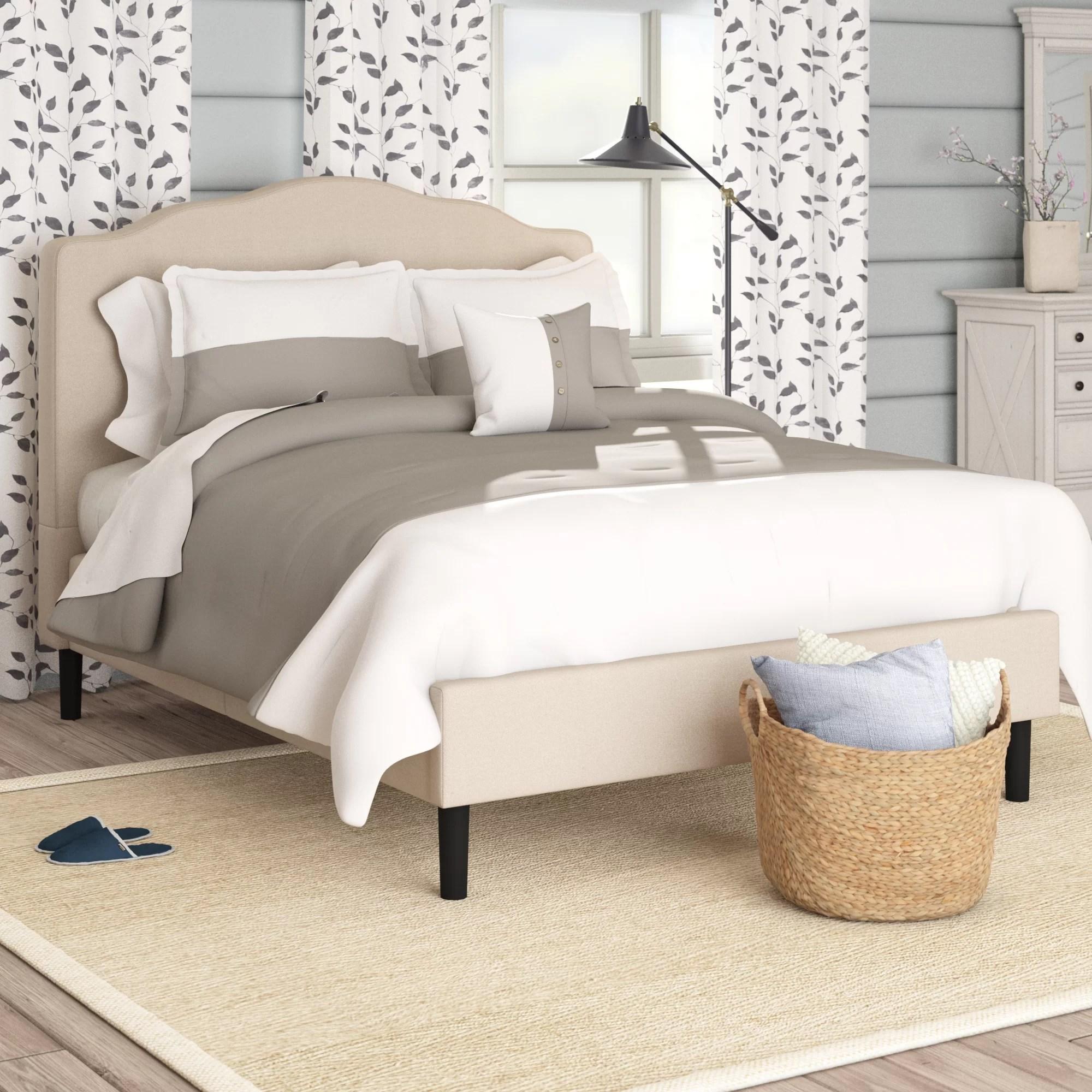 Laurel Foundry Modern Farmhouse Hoopeston Upholstered Platform Bed Reviews