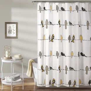 black yellow gold shower curtains